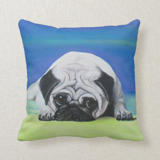 Pug Dog American MoJo Pillow