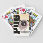 Pug Dog Art Bicycle Card Deck