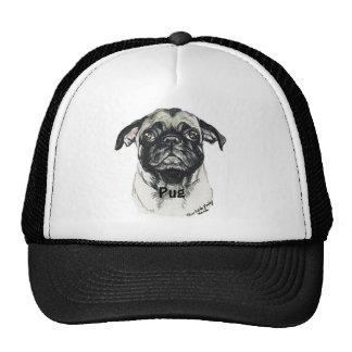 """"""" Pug"""" Dog Art Hat"""