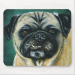 Pug Dog Art - My Happy Face Mouse Pad