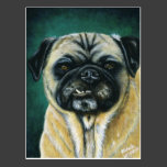 Pug Dog Art - My Happy Face Postcards