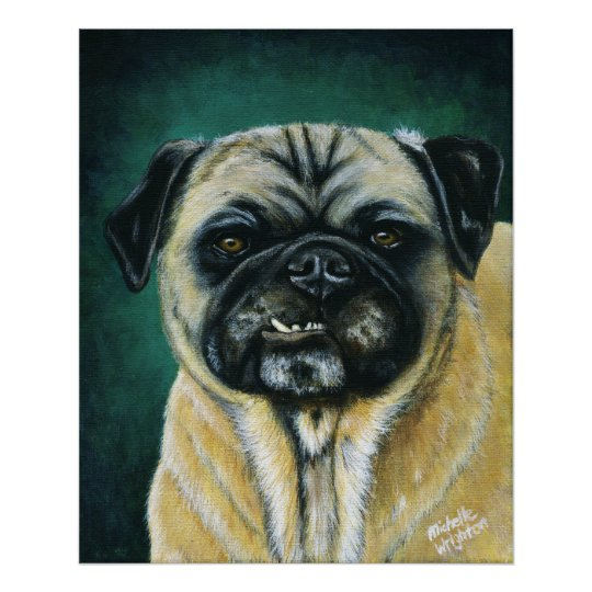 Pug Dog Art - My Happy Face Poster