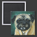 Pug Dog Art - My Happy Face Refrigerator Magnet