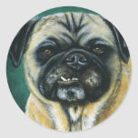 Pug Dog Art - My Happy Face Stickers