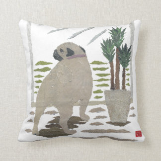 Pug Dog Art Pillow