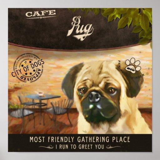 Pug Dog Art Poster