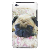 Pug dog barely there iPod cover