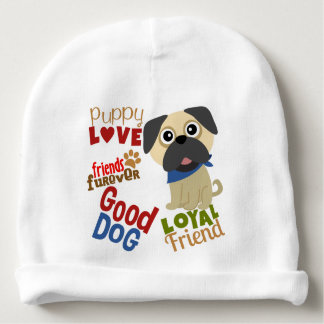 Pug Dog Best Friend Baby Beanie