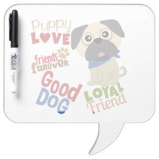 Pug Dog Best Friend Dry-Erase Board