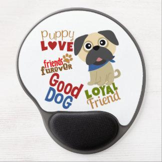 Pug Dog Best Friend Gel Mouse Pad