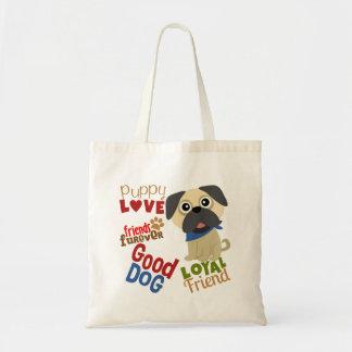 Pug Dog Best Friend Tote Bag