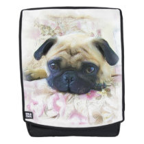 Pug dog boldface backpack
