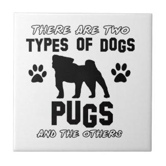 Pug dog breed designs ceramic tile