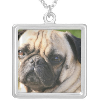 Pug Dog Breed Sterling Silver Necklace