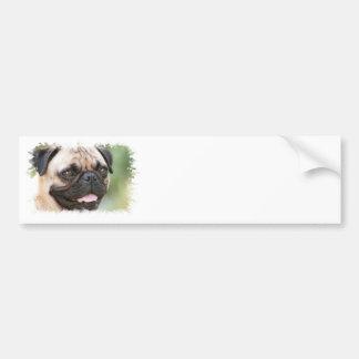 Pug Dog Bumper Sticker