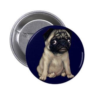Pug Dog Button