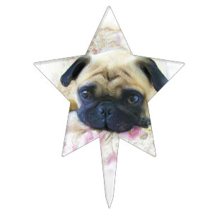 Pug Cake Toppers | Zazzle