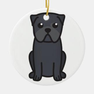 Pug Dog Cartoon Ceramic Ornament