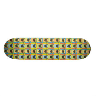 Pug Dog Cartoon Pop-Art Skateboard