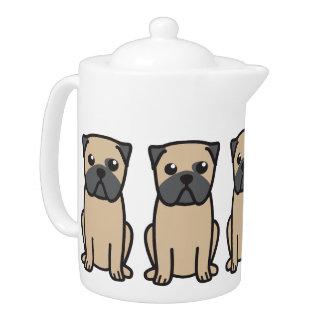 Pug Dog Cartoon Teapot
