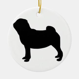 Pug Dog Ceramic Ornament