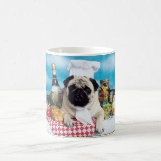 Pug Dog Chef Coffee Mug