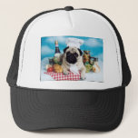 "Pug Dog Chef Trucker Hat<br><div class=""desc"">From an original,  copyrighted photograph by Candi Foltz.</div>"