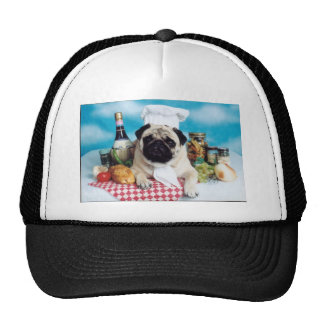 Pug Dog Chef Trucker Hat