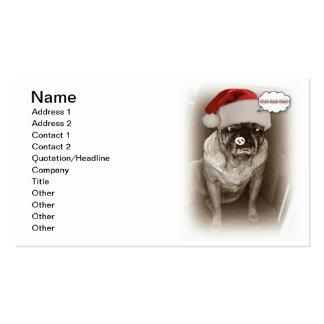 Pug Dog Christmas Business Card