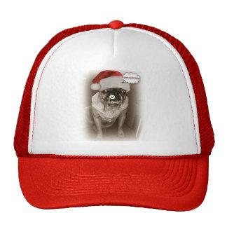 Pug Dog Christmas Hat