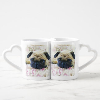 Pug Dog Coffee Mug Set
