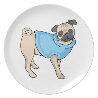 PUG DOG DINNER PLATE