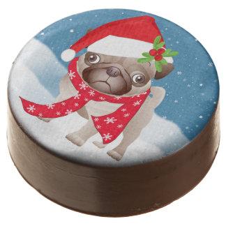Pug Dog Dipped Oreo® Cookies, None Sprinkles, Chocolate Dipped Oreo
