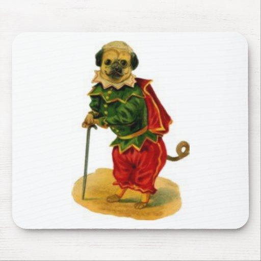pug-dog-dressed-up mouse pad