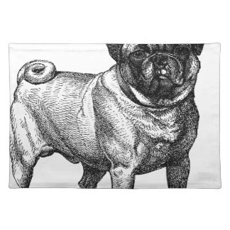 PUG Dog Fawn Color CROWN Placemats