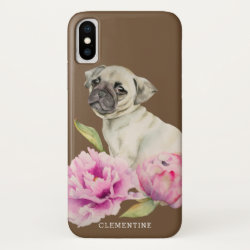 Case-Mate Barely There iPhone X Case with Pug Phone Cases design