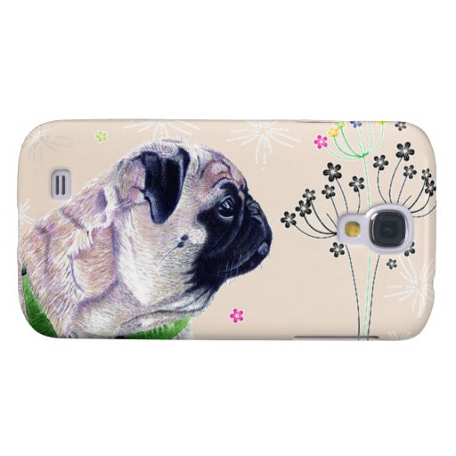 Pug Dog & Flowers iPod Touch 5g Case