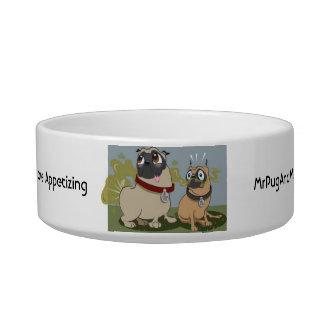 Pug Dog Food Bowl