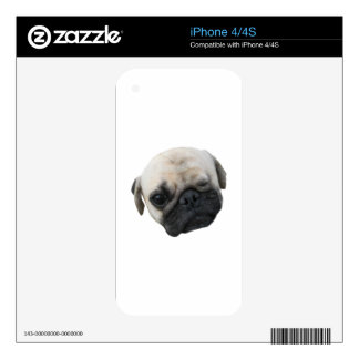Pug Dog Friend ... かわいい 子犬 Skins For iPhone 4S