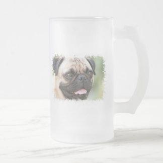 Pug Dog Frosted Beer Mug