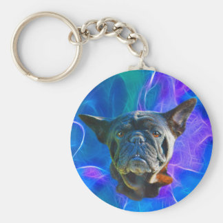 Pug Dog Funny Pet-lover Art Gift Basic Round Button Keychain
