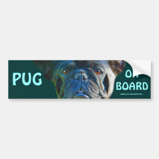 Pug Dog Funny Pet-lover Art Gift Car Bumper Sticker
