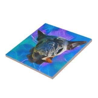 Pug Dog Funny Pet-lover Art Gift Ceramic Tile