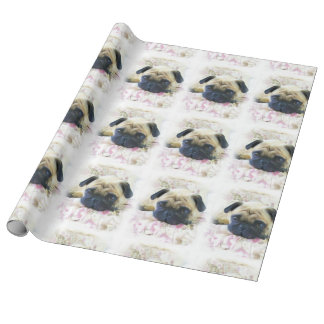 Pug Dog Gift Wrapping Paper
