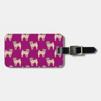 Pug Dog Girl pattern Tag For Luggage