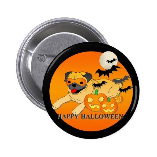 Pug  Dog Halloween Pin