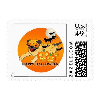 Pug Dog Halloween Postage