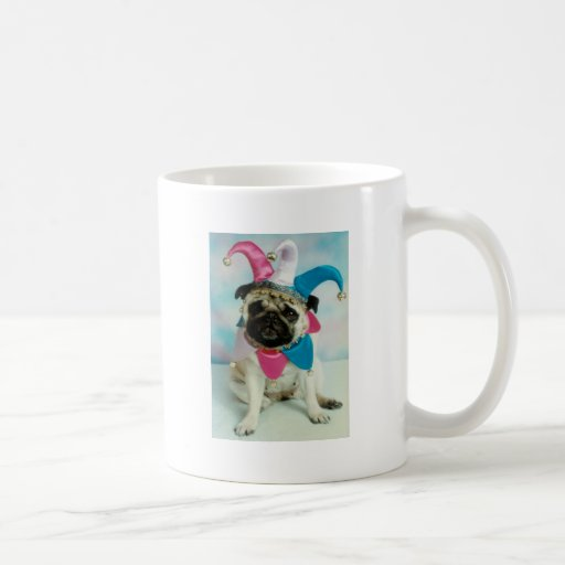 Pug Dog Jester Clown Classic White Coffee Mug