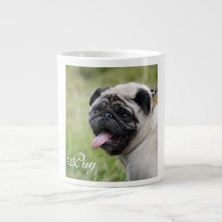 Pug dog jumbo mug custom cute photo 20 oz large ceramic coffee mug