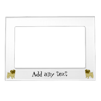 Pug Dog Just Add Text Magnetic Frame